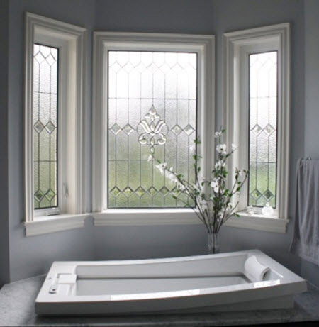 Let the sun shine window options for your bathroom bath for Window glass design